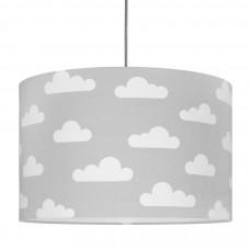 Detská textilná závesná lampa Obláčiky sivá