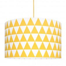 Detská textilná závesná lampa Triangle žltá Preview