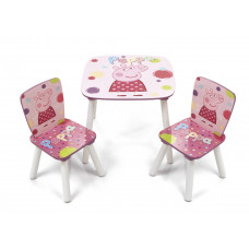 Detský stôl so stoličkami Prasiatko Peppa  Preview