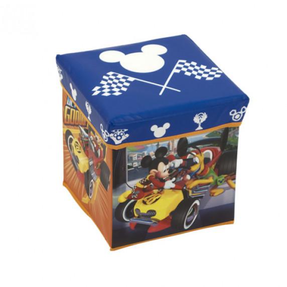 Detský taburetka s úložným priestorom Mickey Mouse a Pluto - WD11622