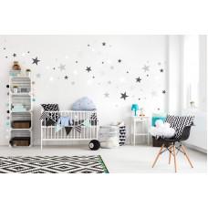 Dekorácia na stenu DEKORNIK Hviezdičky sivo-biele Preview