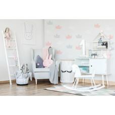 Dekorácia na stenu DEKORNIK Koruny šedo-bielo-ružové Preview