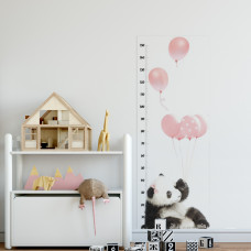 DEKORNIK mierka vzrastu Panda a ružové balóny Preview