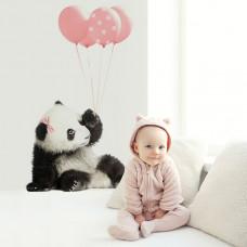 Dekorácia na stenu DEKORNIK Panda s ružovými balónikmi Preview
