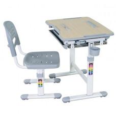 FUN DESK Bambino Detský písací stôl so stoličkou s regulovateľnou výškou - sivý Preview