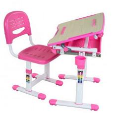 FUN DESK Bambino Detský písací stôl so stoličkou s regulovateľnou výškou - ružový Preview