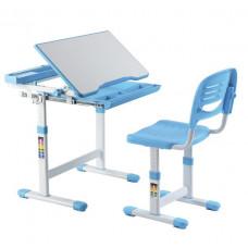 FUN DESK Cantare Detský písací stôl so stoličkou a regulovateľnou výškou - modrý Preview