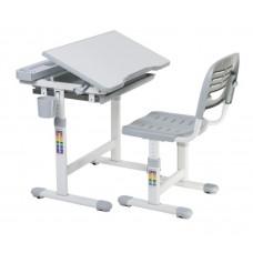 FUN DESK Cantare Detský písací stôl so stoličkou a regulovateľnou výškou - sivý Preview