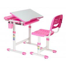FUN DESK Cantare Detský písací stôl so stoličkou a regulovateľnou výškou - ružový Preview