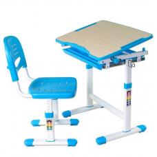 FUN DESK Piccolino Detský písací stôl so stoličkou s regulovateľnou výškou - modrý Preview