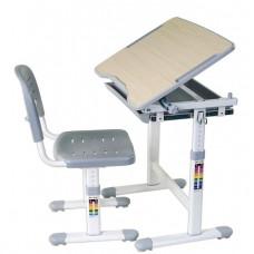 FUN DESK Piccolino Detský písací stôl so stoličkou s regulovateľnou výškou - sivý Preview