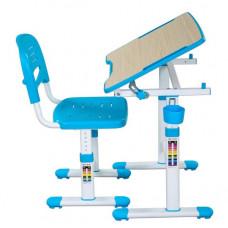 FUN DESK Piccolino ll Detský písací stôl so stoličkou s regulovateľnou výškou - modrý Preview