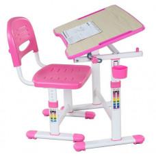 FUN DESK Piccolino ll Detský písací stôl so stoličkou s regulovateľnou výškou - ružový Preview