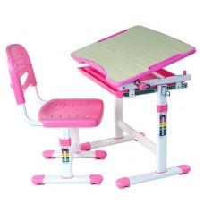 FUN DESK Piccolino Detský písací stôl so stoličkou s regulovateľnou výškou - ružový Preview