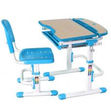 FUN DESK Sorriso Detský písací stôl so stoličkou a regulovateľnou výškou - modrý Preview