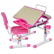 FUN DESK Sorriso Detský písací stôl so stoličkou a regulovateľnou výškou - ružový Preview