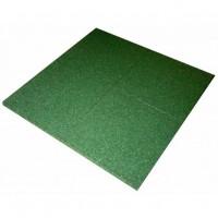 Športová gumená podlaha 100 x 100 x 2 cm - zelená