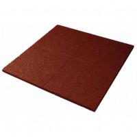Športová gumená podlaha 100 x 100 x 2 cm - červená