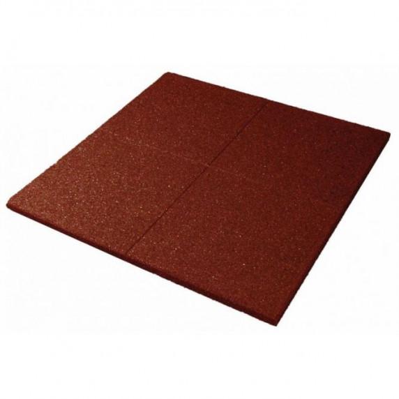 Bezpečnostná gumená podlaha 100 x 100 x 3 cm - červená