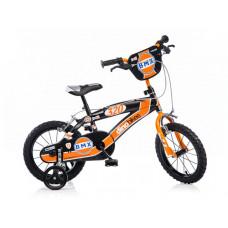 """Detský bicykel DINO BMX 14"""" - oranžovo-čierny Preview"""