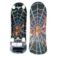 ACRA Drevený Skateboar - farebný pavúk