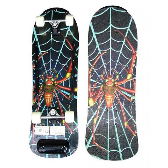 Drevený Skateboard ACRA - farebný pavúk
