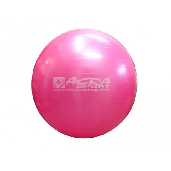 Lopta gymnastická (Gymball) 65 cm ružová