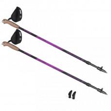 HOLE SPOKEY NORDIC WALKING OUTSIDE trekingové palice - čierno/fiaľové Preview