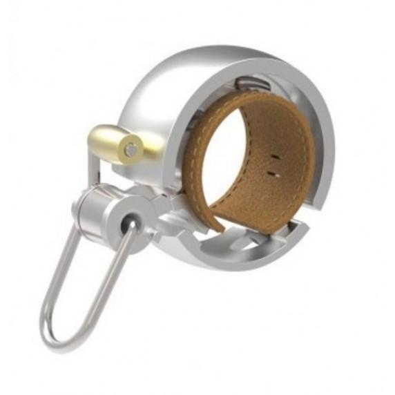 Zvonček na bicykel KNOG OI Luxe - strieborný malý