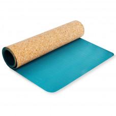 Podložka na cvičenie jógy SPOKEY SAVASANA Parafa 4 mm - tyrkysová Preview