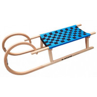 Acra sane drevené 110 cm modré - baranie rohy