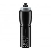 Cyklistická fľaša ELITE JET CLEAR 950 ml - čierna/sivá