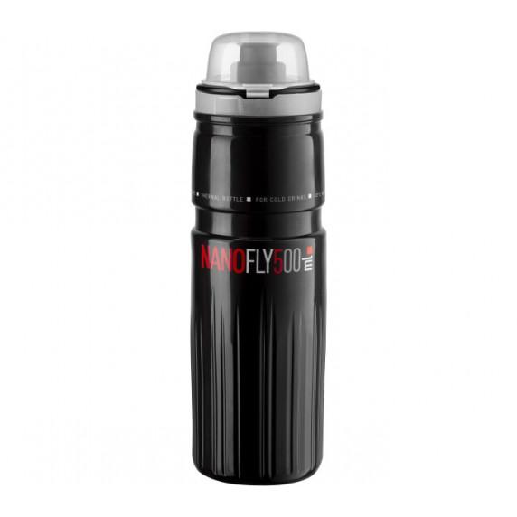 """Cyklistická fľaša ELITE NANOFLY 21"""" Thermo 500 ml - čierna"""