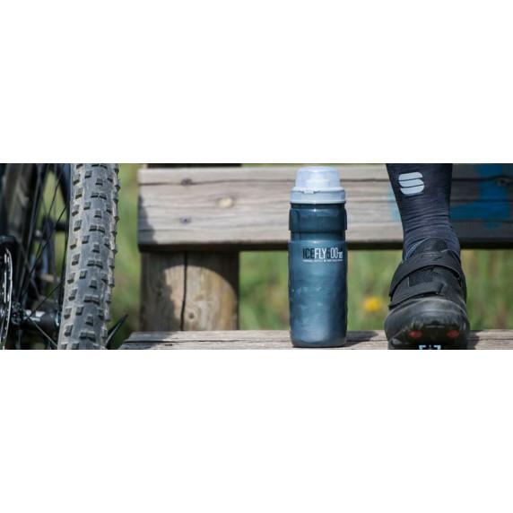Cyklistická fľaša ELITE ICE FLY 21´ 650 ml - dymová sivá