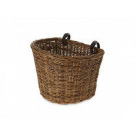 Predný košík BASIL DARCY L RATTAN - prírodný hnedý