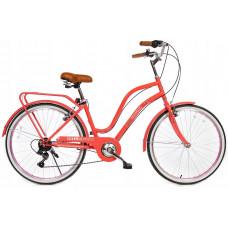 FLORABELLA 26 dámsky mestský RETRO bicykel 2019 - Oranžový Preview