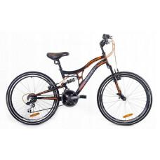 """Horský bicykel pánsky Adventure 26"""" čierno-oranžový Preview"""