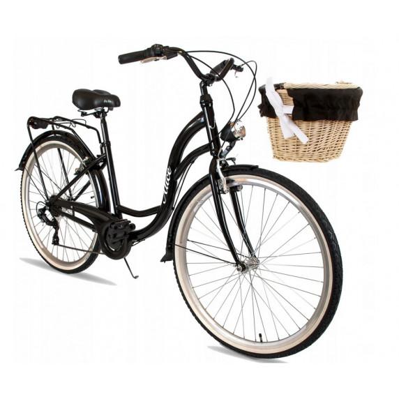"""Dámsky bicykel ALICE  28"""" - čierny"""