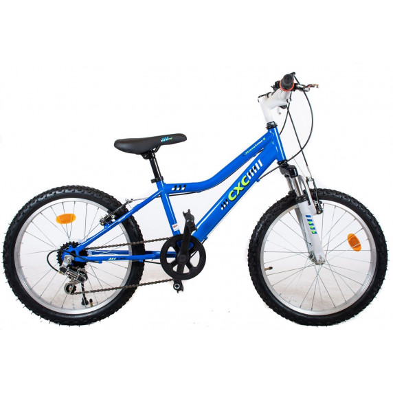 "Detský bicykel CXC Amor 20"" - modrý/biely"