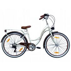 "Hellobikes VENETIAN 6 Speed 26"" dámsky mestský bicykel 2019 - Krémový Preview"