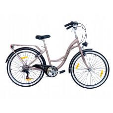 "Hellobikes VENETIAN 6 Speed 26"" dámsky mestský bicykel 2019 - béžový Preview"