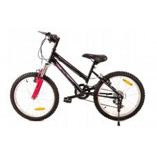 """FUNNY COUNTRY FXC Detský bicykel 20"""" - čierno-ružový Preview"""