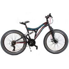 """KANDS SNIPER Junior horský bicykel 24"""" 2020 - čierno/červený Preview"""