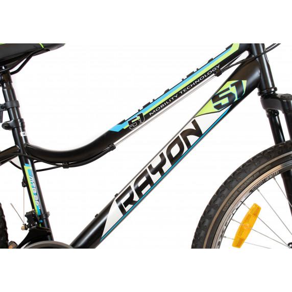 """Pánsky bicykel RAYON CASCADE 26"""" - čierny/biely/červený"""