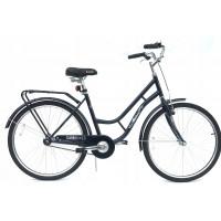 "Hellobikes RETRO 1 Speed 28"" dámsky mestský bicykel - čierny"