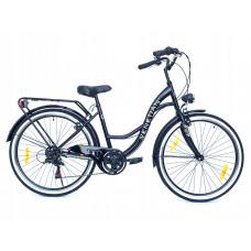 "Hellobikes VENETIAN 6 Speed 26"" dámsky mestský bicykel 2019 - Čierny Preview"