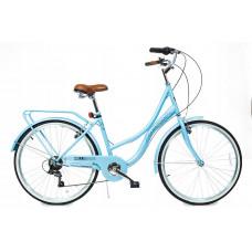 "Hellobikes DOWNTOWN 7 Speed 26"" dámsky mestský bicykel 2019 - Bledomodrý Preview"