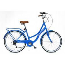 "Hellobikes DOWNTOWN 7 Speed 26"" dámsky mestský bicykel 2019 - Modrý Preview"