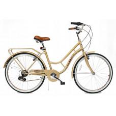 "Hellobikes RETRO 7 Speed 26"" dámsky mestský bicykel 2019 - Zlatý Preview"
