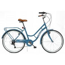 """Hellobikes RETRO 7 Speed 26"""" dámsky mestský bicykel 2019 - Modrý Preview"""